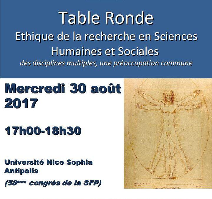 Table ronde sur l'éthique de la recherche en sciences humaines : quel constat ?